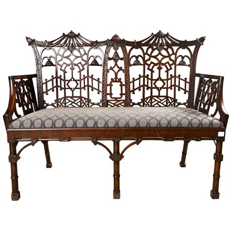chippendale settee antique chippendale settee canape at 1stdibs