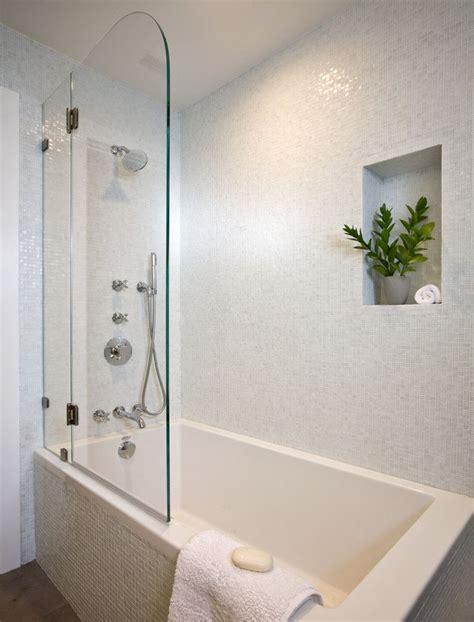 tub shower combo soaking tub  shower  door white