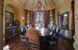 Elegant dining room mediterranean dining room other for Elegant dinning room