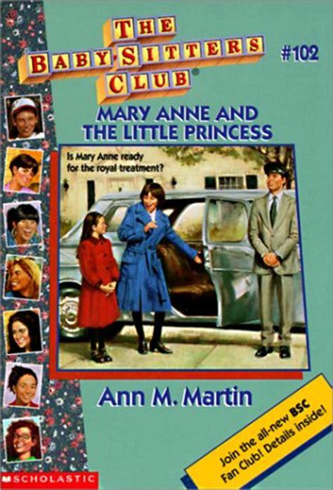 mary anne    princess  ann  martin