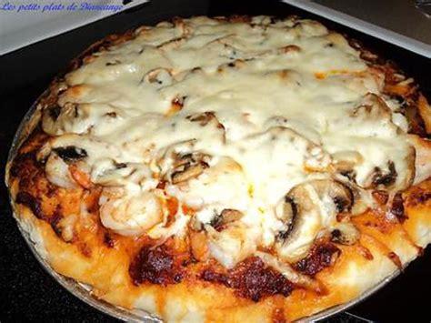 recette de pizza aux crevettes et pesto