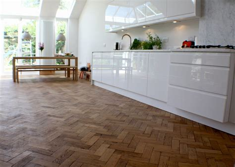oak floors in kitchen reclaimed parquet flooring netmagmedia ltd 3569