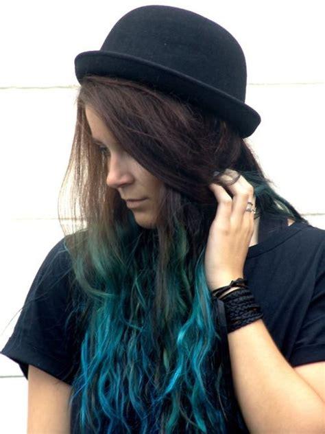 Turquoiseblue Dip Dyeombre Hair Luuux Hair