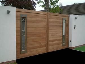 Portail En Bois : modern wooden gate ~ Premium-room.com Idées de Décoration