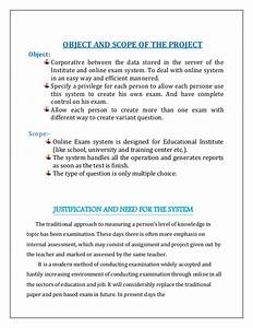 project management institute With online examination system project documentation