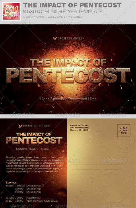impact  pentecost church flyer invite  rockibee