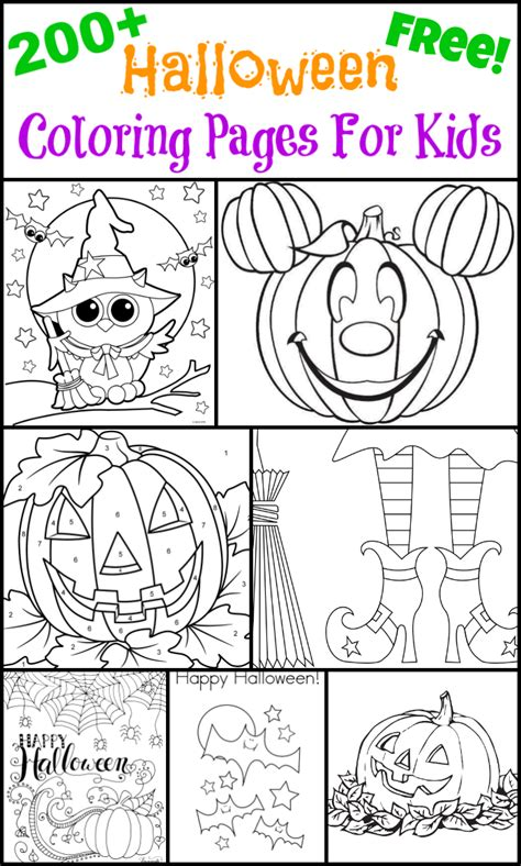 halloween coloring pages  kids  suburban mom