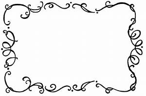 Classy clipart squiggly line border - Pencil and in color ...