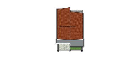 gambar rumah minimalis  meter tipe  sketchup