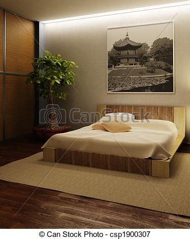 style chambre a coucher illustrations de intérieur japon style chambre à