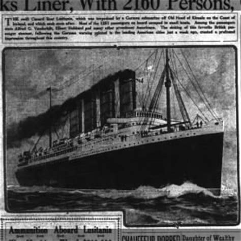 Why Did Germany Sink The Lusitania by Tmih The Sinking Of The Lusitania May 7 1915 Fold3