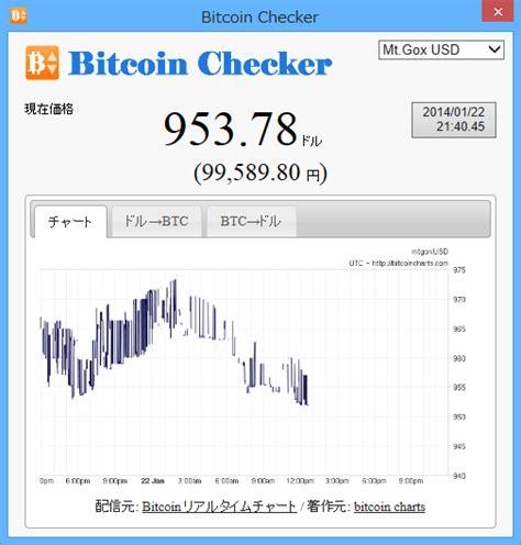 Bitcoin Checker のスクリーンショット フリーソフト100