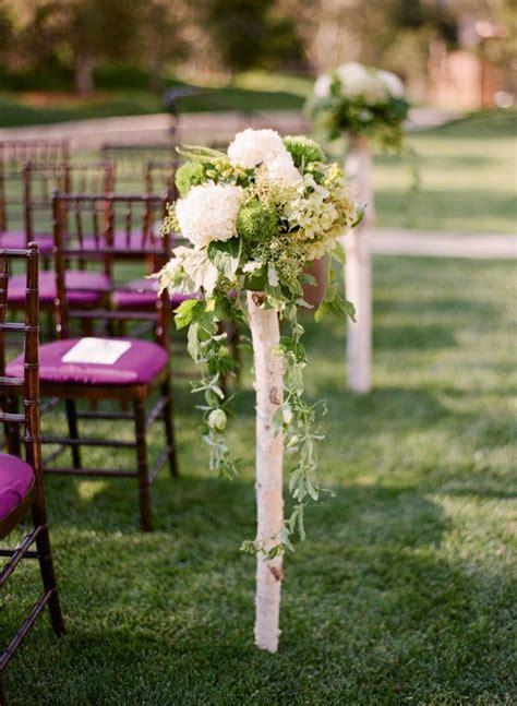 rustic birch tree wedding ideas deer pearl flowers