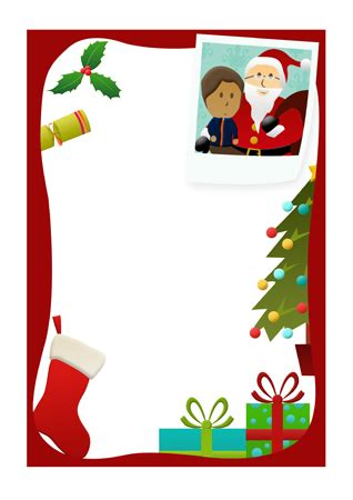 letter  santa christmas notepaper  early years