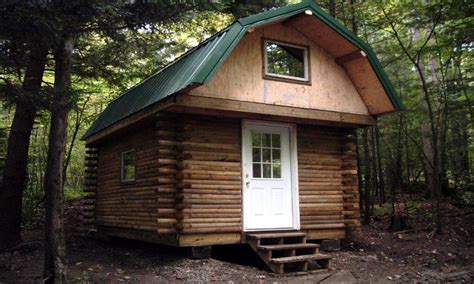 Small Log Cabin Plans with Loft Log Cabin with Loft basic