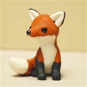 making simple animals from polymer clay | Adorable Fox ...