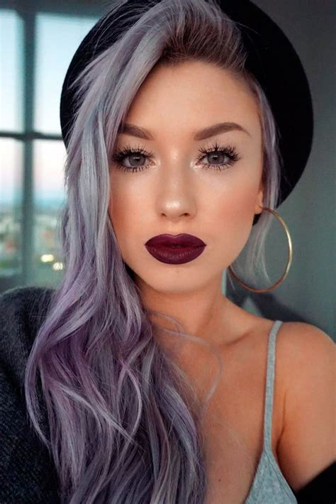 Best 25 Silver Purple Hair Ideas On Pinterest