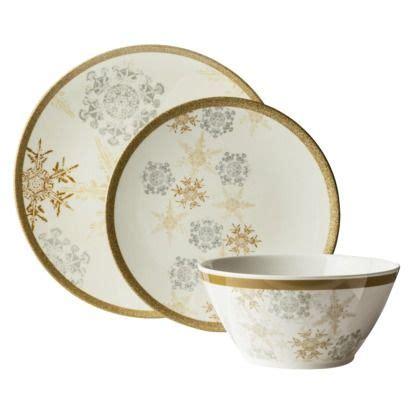 christmas dishes melamine dinnerware snowflake snowflakes china target gold silver holiday elegant piece xmas collection threshold sets dish kitchen pattern