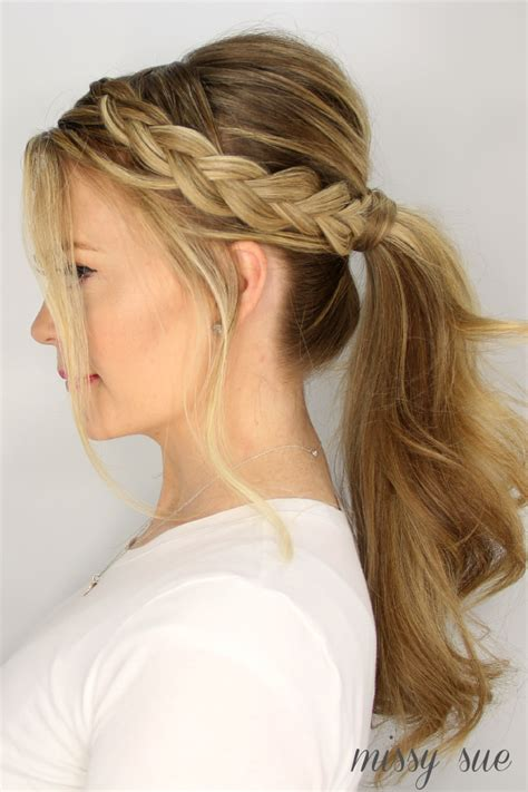 Summer Ponytail Hairstyles by 3 Easy Summer Hairstyles Braids Braided Ponytail