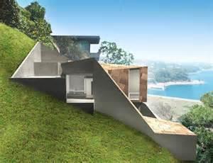 hillside home designs setbacks zoning shaped this sweet modern hillside home