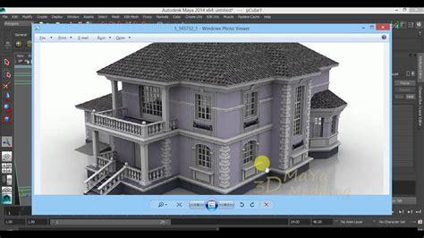model house maya  tutorial architectural