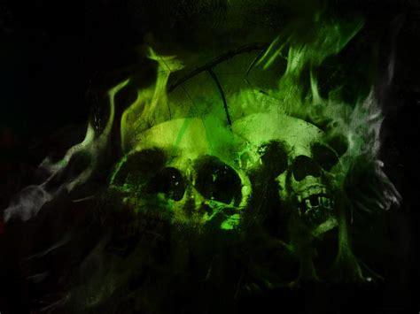 full wallpaper flaming skulls wallpaper