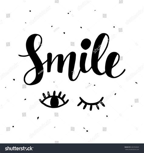 smile inspirational poster cute hand lettering stock vector 482594665 shutterstock