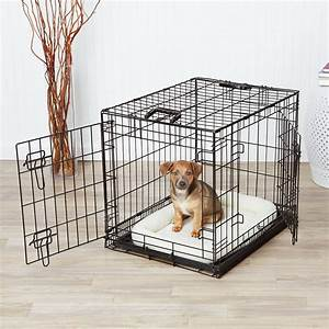 review amazonbasics double door folding metal dog crate With best dog crates for puppies