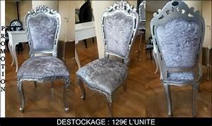 Chaise Style Baroque : lot de 50 chaises style baroque destockage grossiste ~ Teatrodelosmanantiales.com Idées de Décoration