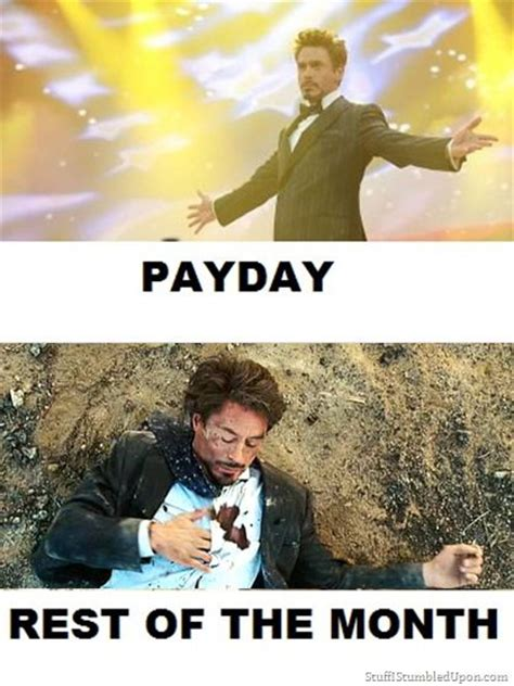 Pay Day Meme - payday tony stark meme lol pinterest meme