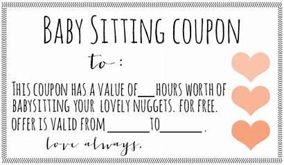 Coupon Babysitting Template Gift Christmas Printable Voucher