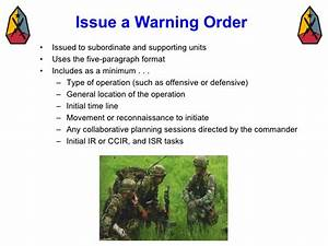 Usmc warning order templatewarning order template pdf for Usmc warning order template