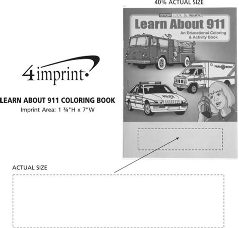 4imprintcom Learn About 911 Coloring Book 1034911