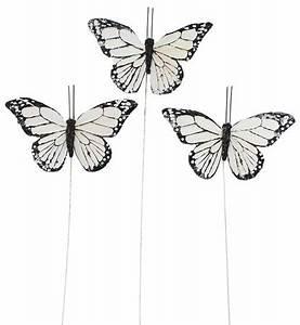 Schmetterlinge Als Deko : deko schmetterlinge weiss 9 cm am draht 3er set eur 2 60 ~ Lizthompson.info Haus und Dekorationen