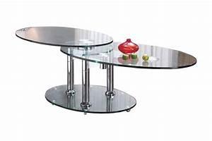 Table Basse En Acier : wings table basse modulable en verre pietement acier chrome ~ Melissatoandfro.com Idées de Décoration