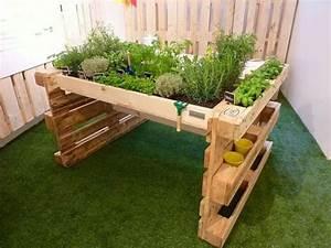 Mini Potager En Bois : un jardin avec des palettes de bois c 39 est a la vie ~ Premium-room.com Idées de Décoration