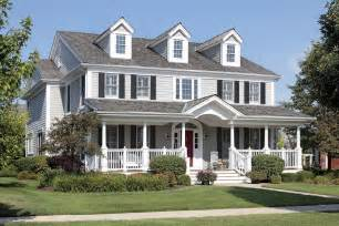 Stunning Images Houses With Big Porches by Classic American Style House With Beautiful Front Deck