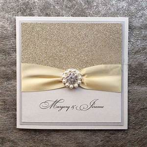Silver glitter wedding invitations handmade invitations for Inexpensive glitter wedding invitations