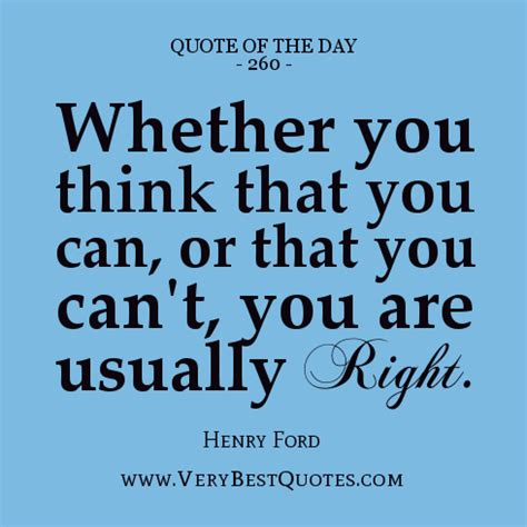 Positive Quote Of The Day Quote Of The Day Positive Thinking Quotes Henry Ford