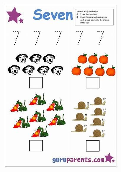 Number Preschool Worksheets Kindergarten Activities Math Guruparents