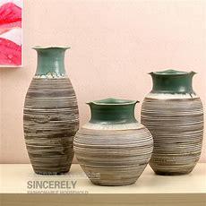 Set Of Three Modern Ceramic Vase Home Decor Decoration