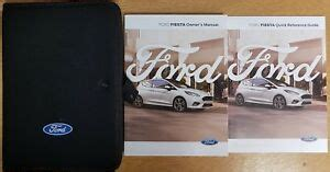 ford fiesta handbook owners manual wallet audio navi sync