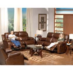 catnapper dallas leather reclining sofa set tobacco