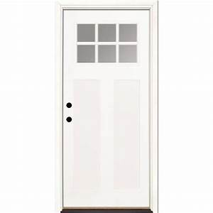 Feather River Doors 6 Lite Craftsman Primed Smooth