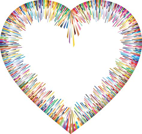 clipart   colorful abstract heart border