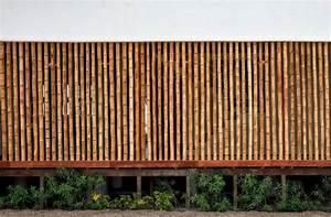 Diseño de casa de playa con bambú y madera Planos de Arquitectura