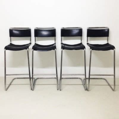 vntg 4 pc 39 s 4 x b 39 stool by marcel breuer for thonet 1940s 16993