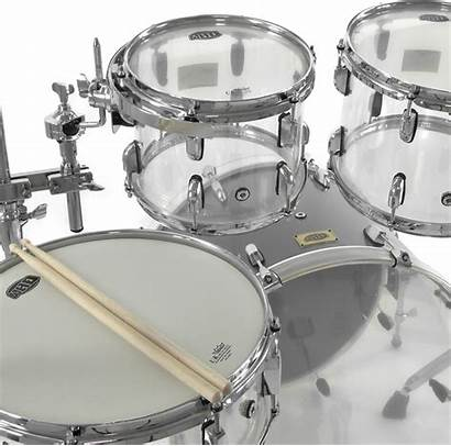 Drum Clear Acrylic Kit Whd Crystal Disc