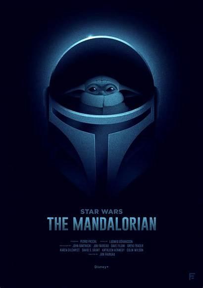 Mandalorian Poster Wars Movie Adam Created Posters