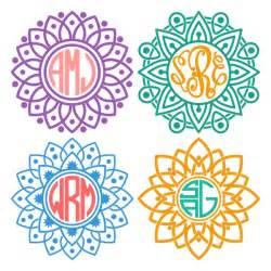 Cricut Monogram SVG Mandala